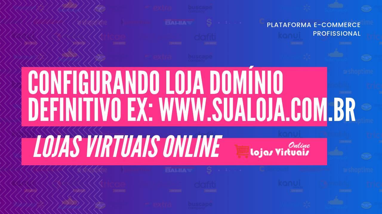 configurando loja virtual no domínio definitivo