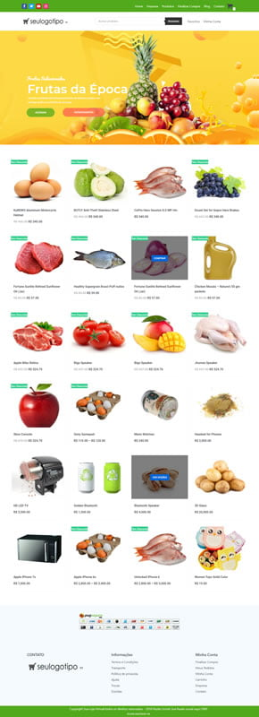 Plataforma de Supermercados Online e APP Delivery completa