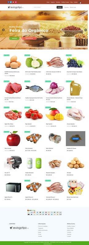loja virtual produtos organicos completa min