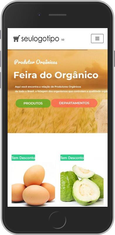 Solução Loja Virtual Produtos Orgânicos Com PDV Aplicativo Delivery 2