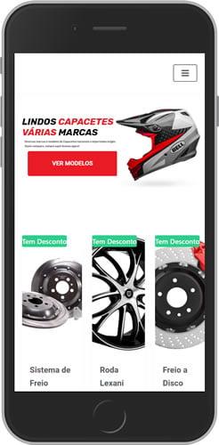 Loja Virtual Moto Peças Com PDV + Aplicativo Android Delivery 2
