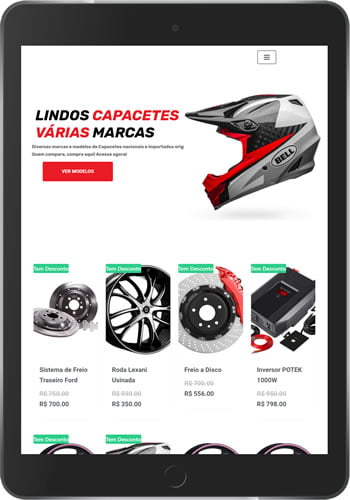 Loja Virtual Moto Peças tablet