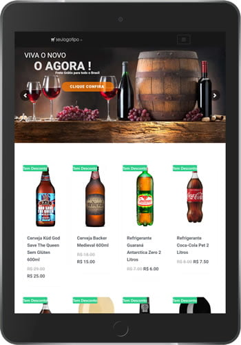 Loja Virtual de Bebidas Tablet