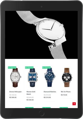 Loja Virtual de Jóias e Relógios Tablet