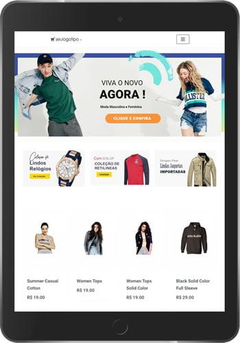 Loja Virtual de Roupas e Acessórios + Aplicativo + PDV + Gestão Estoque 1