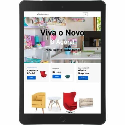 loja virtual artesanatos decoração tablet