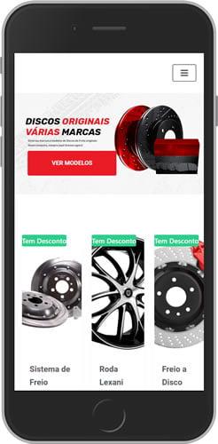 loja virtual auto peças mobile