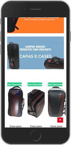 loja virtual bolsas e acessórios mobile