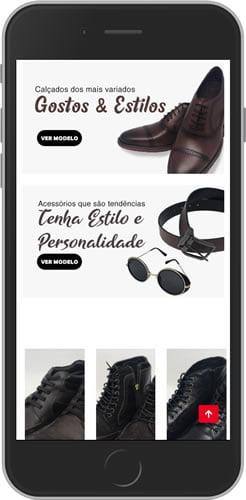loja virtual de calçado mobile min