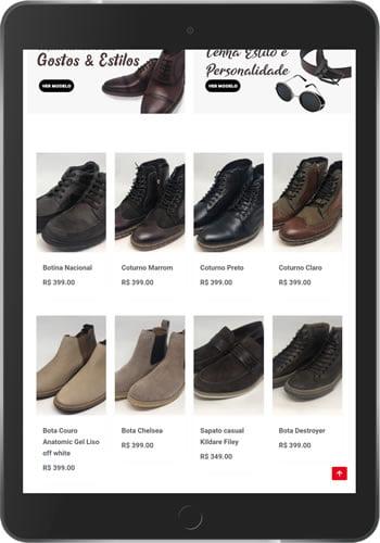 loja virtual de calçado tablet min