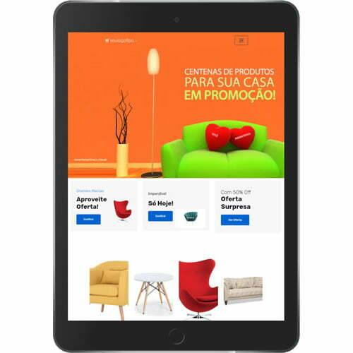 loja virtual de móveis interior tablet