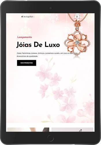 loja virtual joias tablet frontal