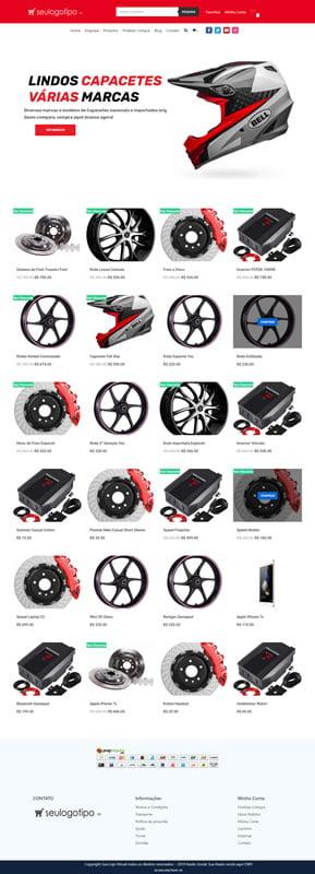 loja virtual moto peças completa