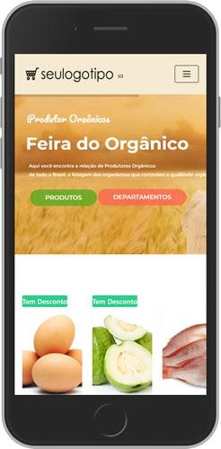 loja virtual organicos mobile
