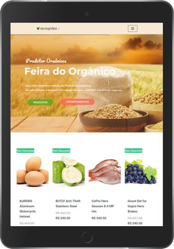 loja virtual organicos tablet