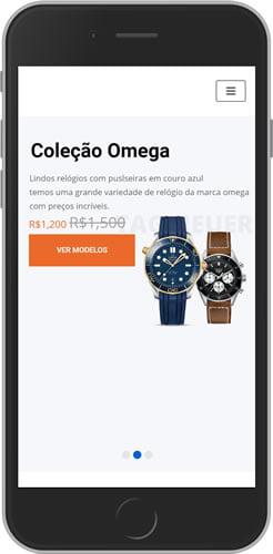 loja virtual relógios e presentes mobile
